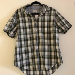 Lacoste Button Down Plaid Shirt Brand New